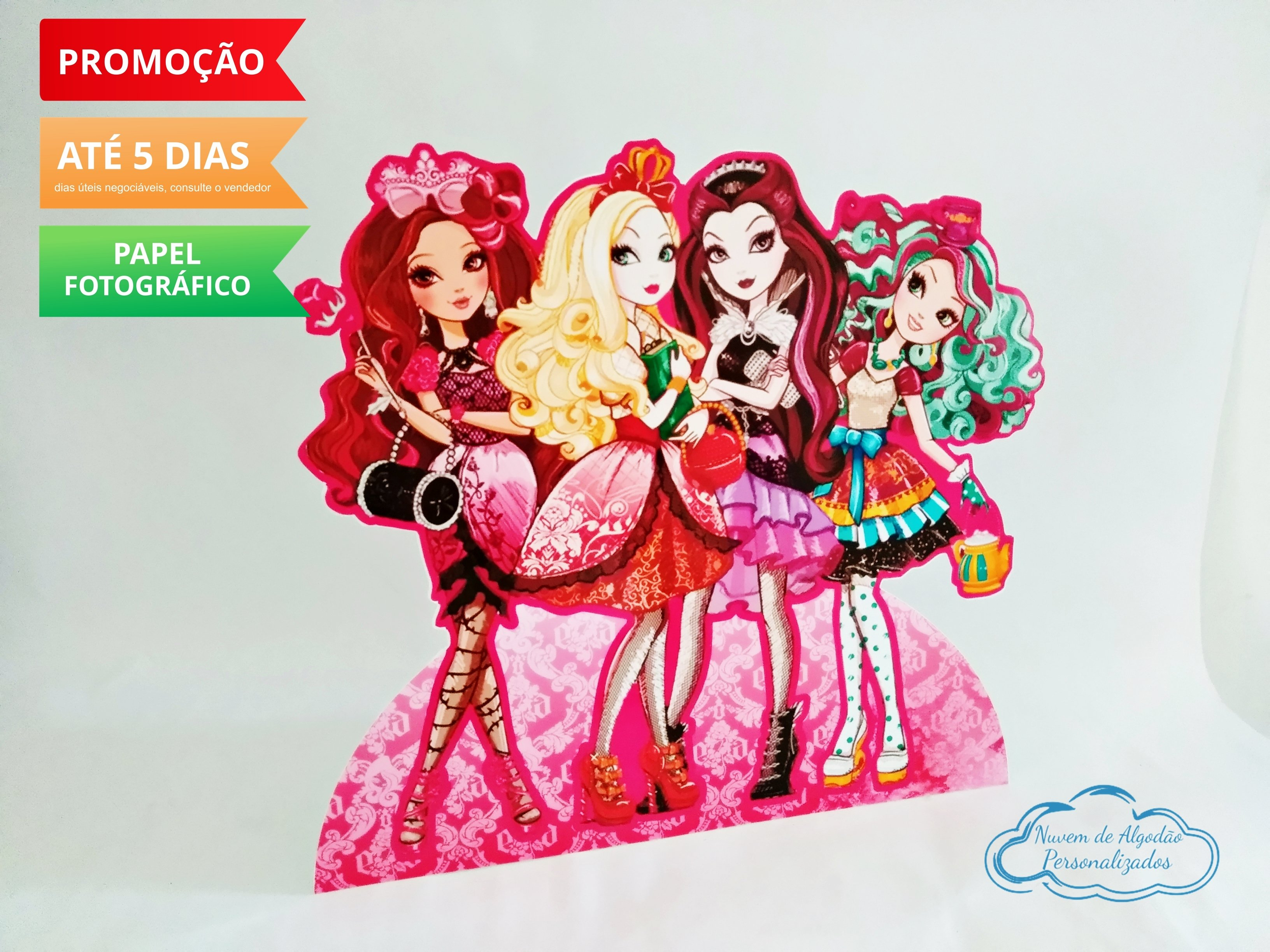 Nuvem de algodão personalizados - Display de mesa Ever after high 27cm