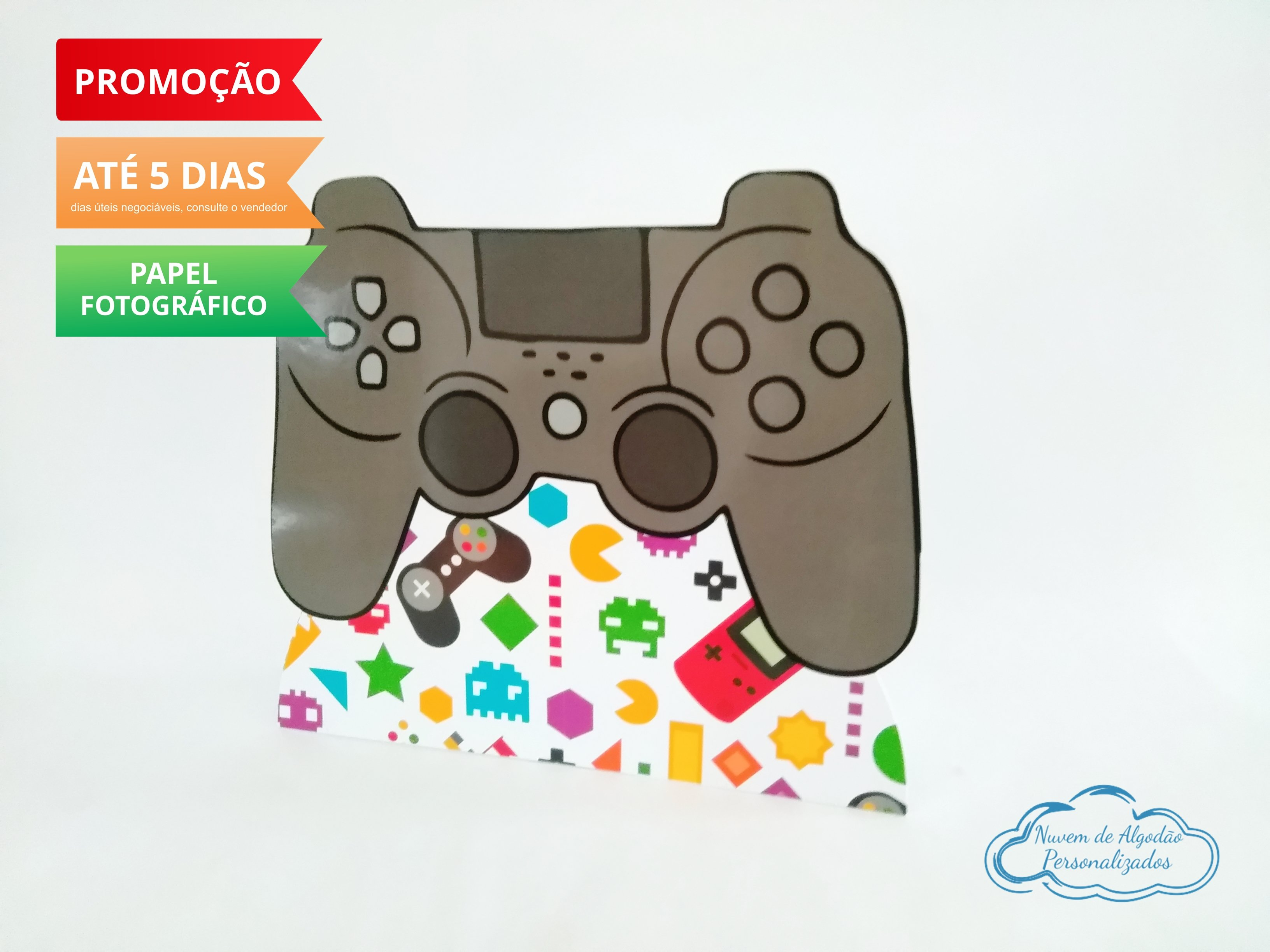 Nuvem de algodão personalizados - Display de mesa Video Game 27cm - joystick