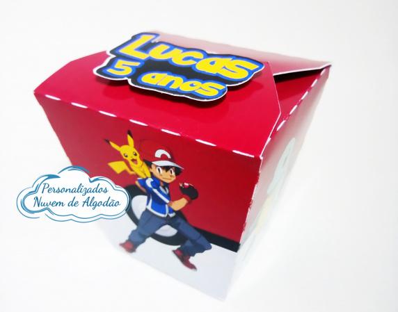 Caixa sushi Pokemon-Caixa Sushi Pokemon Fazemos em qualquer tema. Envie nome e idade para personalização.  - Produ
