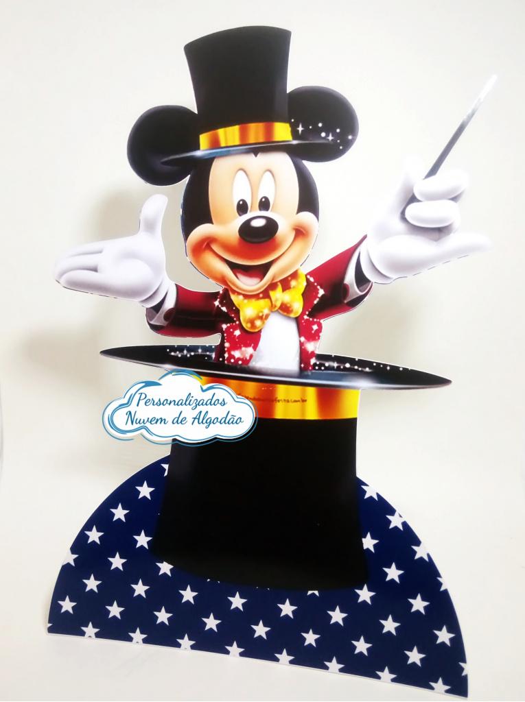 Nuvem de algodão personalizados - Display de mesa Circo do Mickey 27cm