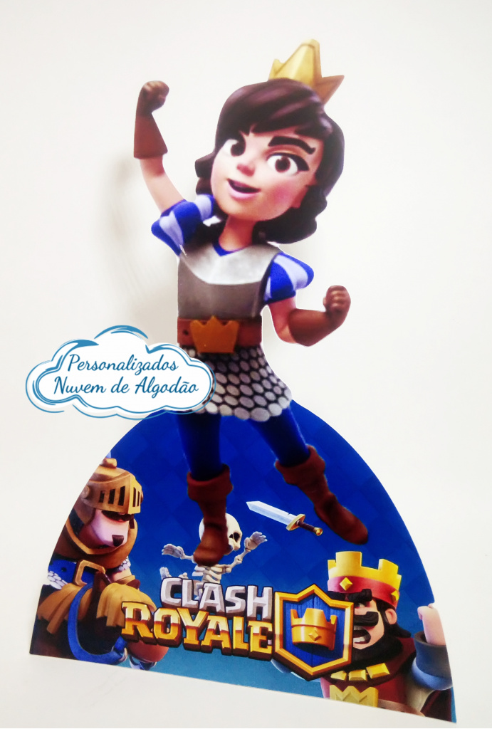 Nuvem de algodão personalizados - Display de mesa Clash Royale 27cm - Princesa