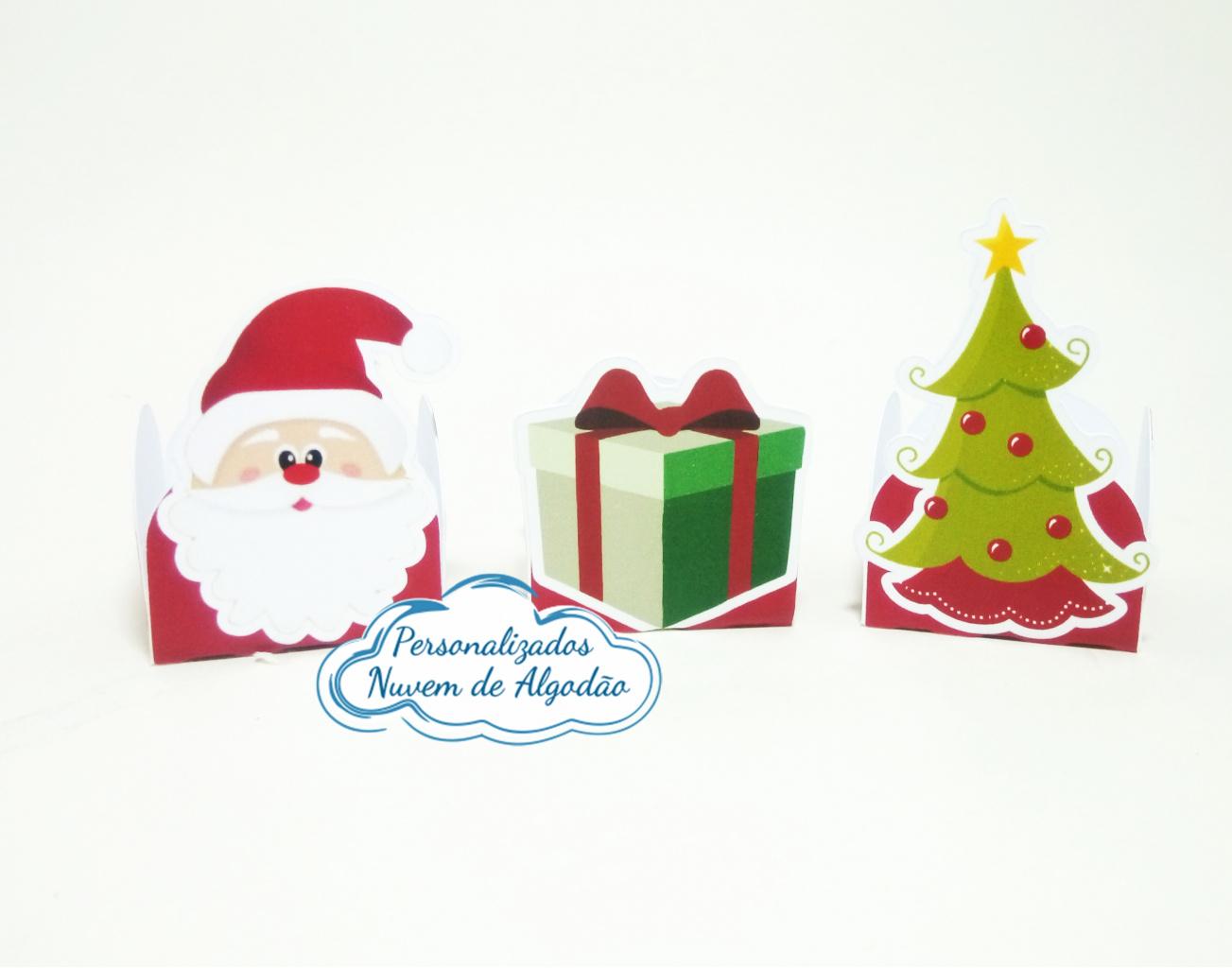 Nuvem de algodão personalizados - Forminha Natal
