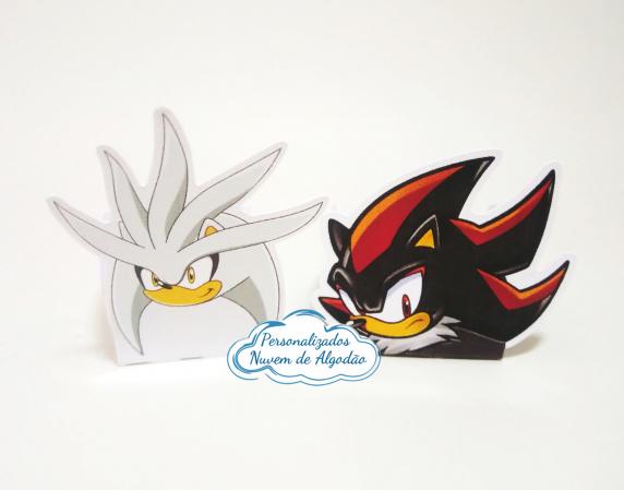 Forminha Sonic, Shadow e Silver-Forminha Sonic, Shadow e Silver Fazemos em qualquer tema. Envie nome e idade para personalização