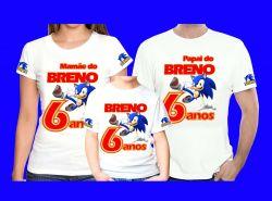 3 Camiseta Sonic personalizada