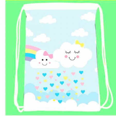 30 mochila saco  Chuva de Amor Esponja Personalizada-30 mochila saco  Chuva de Amor Esponja Personalizada A magia e encanto de uma festa começa nos peq