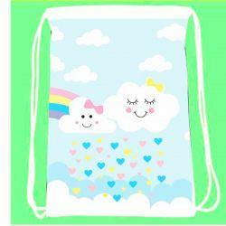 30 mochila saco  Chuva de Amor Esponja Personalizada