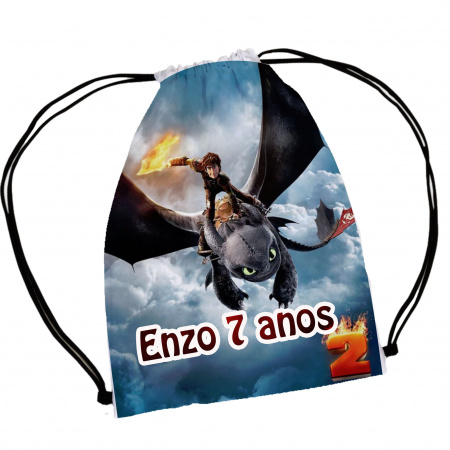 30 mochila saco  Como Treinar Seu Dragão Personalizada-30 mochila saco  Como Treinar Seu Dragão Personalizada A magia e encanto de uma festa começa nos