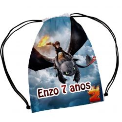 30 mochila saco  Como Treinar Seu Dragão Personalizada