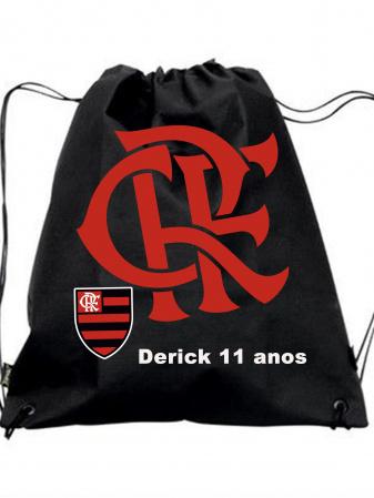 30  Mochila Saco  Flamengo  Personalizada-30 Mochila Saco Patrulha Canina Personalizada Mochila saco personalizada no tamanho: 27x32  feita c