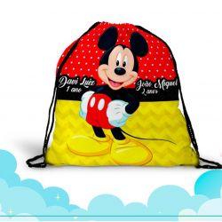 30 mochila saco  Mickey  Personalizada