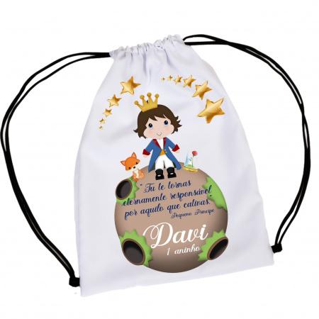 30  Mochila Saco  Pequeno Príncipe  Personalizada-30  Mochila Saco  Pequeno Príncipe  Personalizada Mochila saco personalizada no tamanho: 20x30  fe