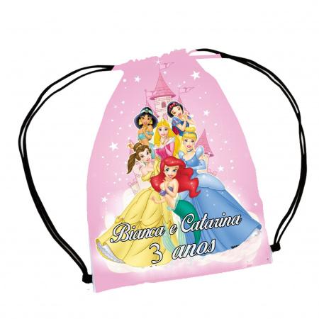 30  Mochila Saco  Princesas Disney  festa Personalizada-30  Mochila Saco  Princesas Disney  festa Personalizada Mochila saco personalizada no tamanho: 20x3