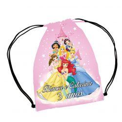 30  Mochila Saco  Princesas Disney  festa Personalizada