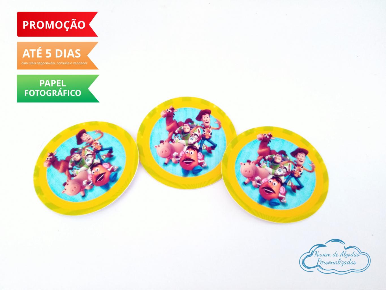 Nuvem de algodão personalizados - Adesivo 5x5 Toy Story