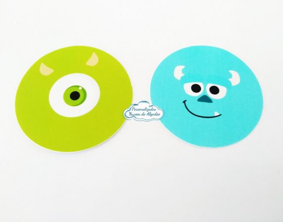 Adesivo 5x5 Monstros SA-Adesivo 5x5 Monstros SA  Fazemos em qualquer tema. Envie nome e idade para personalização. Dat
