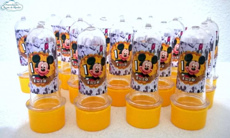 Adesivo de mini tubete Mickey-Adesivo de mini tubete Mickey  Fazemos em qualquer tema. Envie nome e idade para personalização
