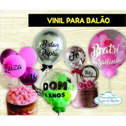 Adesivo Vinil 40x24cm para balão grande