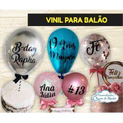 Adesivo Vinil 9x9cm para balão pequeno