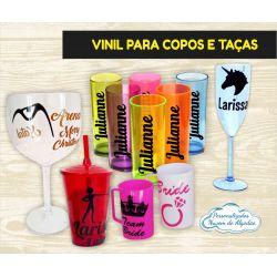 Adesivo Vinil para copo e taça 8x5