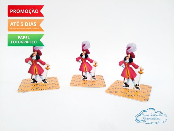 Aplique 3d de caixinha 5x5 Peter Pan - Capitão Gancho-Aplique 3d de caixinha 5x5 Peter Pan - Capitão Gancho  Fazemos em qualquer tema. Envie nome e id