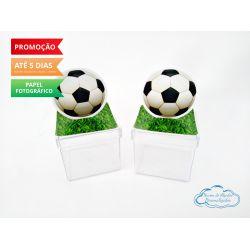 Aplique 3d de caixinha Futebol