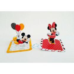 Aplique 3d de caixinha Mickey e Minnie