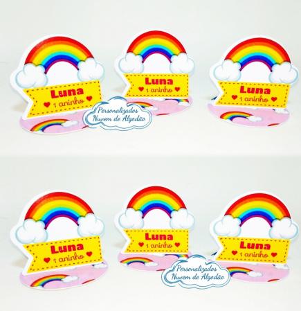 Aplique 3d de latinha 5x5 Arco íris-Aplique 3d de latinha 5x5 Arco íris  Fazemos todos os temas Fazemos em qualquer tema. Envie nom