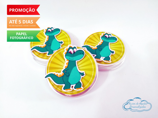Aplique 3d de latinha 5x5 Mundo Bita dinossauro-Aplique 3d de latinha 5x5 Mundo Bita dinossauro  Fazemos todos os temas Fazemos em qualquer tema.