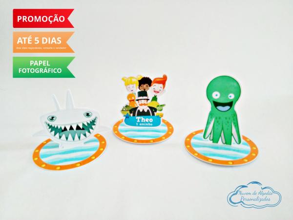 Aplique 3d de latinha 5x5 Mundo Bita fundo do mar-Aplique 3d de latinha 5x5 Mundo Bita fundo do mar  Fazemos todos os temas Fazemos em qualquer tem