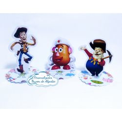 Aplique 3d de latinha 5x5 Toy Story