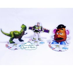 Aplique 3d de latinha 5x5 Toy Story - Buzz
