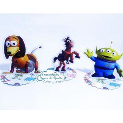 Aplique 3d de latinha 5x5 Toy Story - Slinky