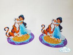 Aplique 3d de latinha 5x5cm Aladdin /Jasmine