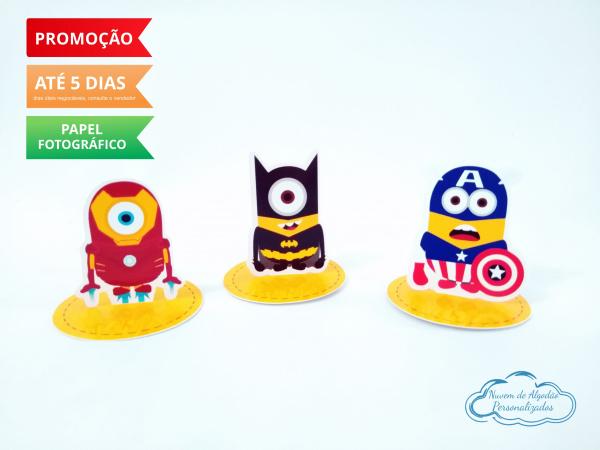 Aplique 3d de latinha Minions heróis-Aplique 3d de latinha Minions heróis  Fazemos todos os temas Fazemos em qualquer tema. Envie no