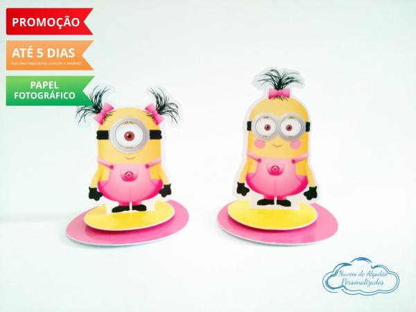Aplique 3d de latinha Minions rosa-Aplique 3d de latinha Minions rosa  Fazemos todos os temas Fazemos em qualquer tema. Envie nome