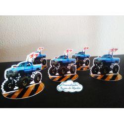 Aplique 3d de latinha Monster Truck
