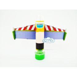 Aplique de tubete + adesivo Toy Story - Buzz Lightyear