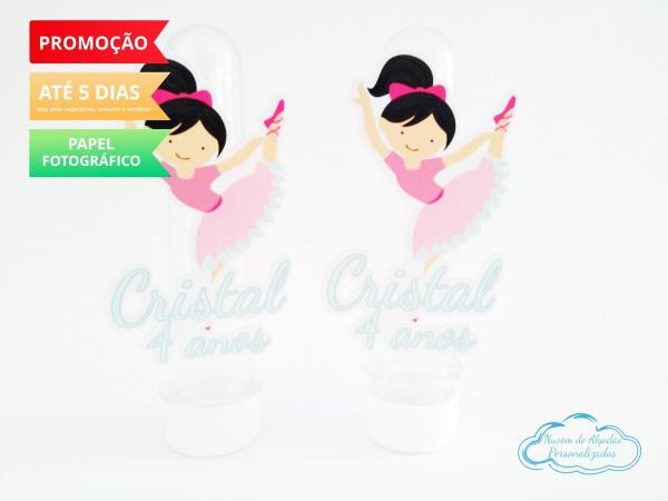 Aplique de tubete Bailarina rosa-Aplique de tubete Bailarina rosa  Fazemos em qualquer tema. Envie nome e idade para personalizaç