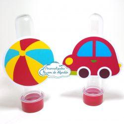 Aplique de tubete Brinquedos - Carrinho e bola