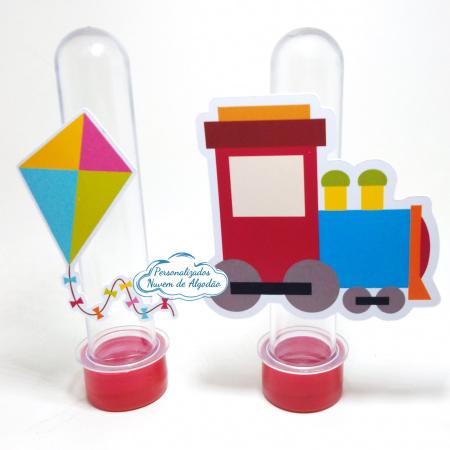 Aplique de tubete Brinquedos - Trenzinho e pipa-Aplique de tubete Brinquedos - Trenzinho e pipa  Fazemos em qualquer tema. Envie nome e idade par
