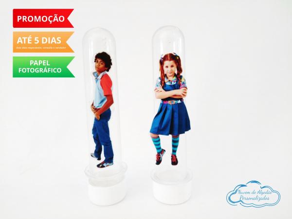 Aplique de tubete Chiquititas - Ana e Mosca-Aplique de tubete Chiquititas - Ana e Mosca  Fazemos em qualquer tema. Envie nome e idade para pe