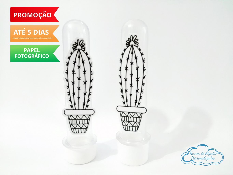 Nuvem de algodão personalizados - Aplique de tubete Cordel Encantado - Cacto desenho