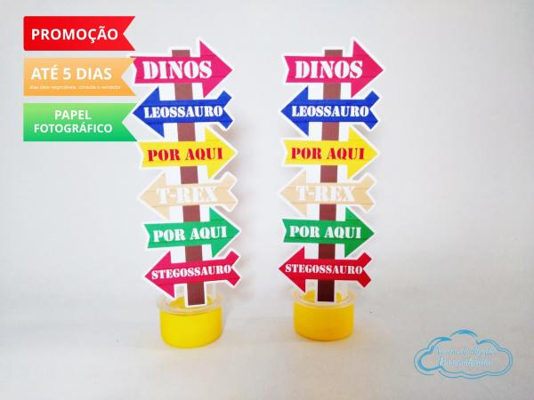 Aplique de tubete Dinossauro Placa-Aplique de tubete Dinossauro Placa  Fazemos em qualquer tema. Envie nome e idade para personaliza