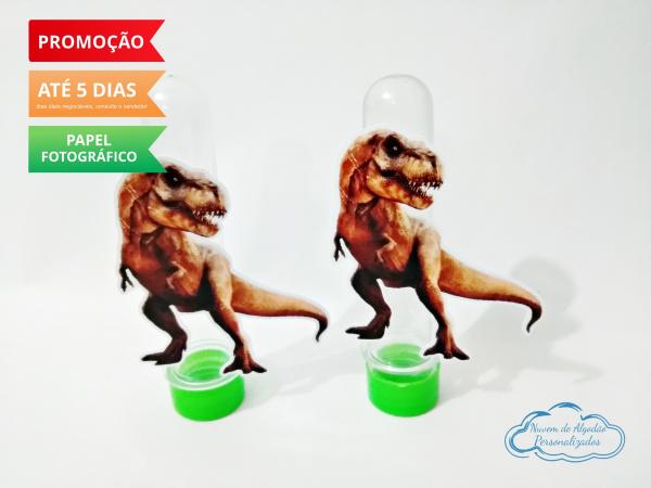 Aplique de tubete Dinossauros T-Rex-Aplique de tubete Dinossauros T-Rex  Fazemos em qualquer tema. Envie nome e idade para personaliz