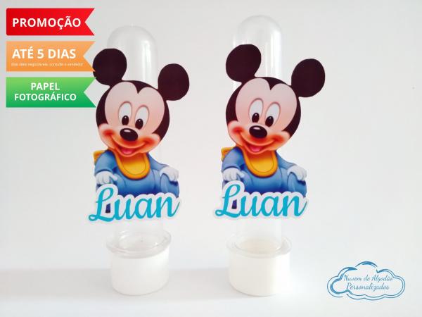Aplique de tubete Disney baby - Mickey-Aplique de tubete Disney baby - Mickey  Fazemos em qualquer tema. Envie nome e idade para persona