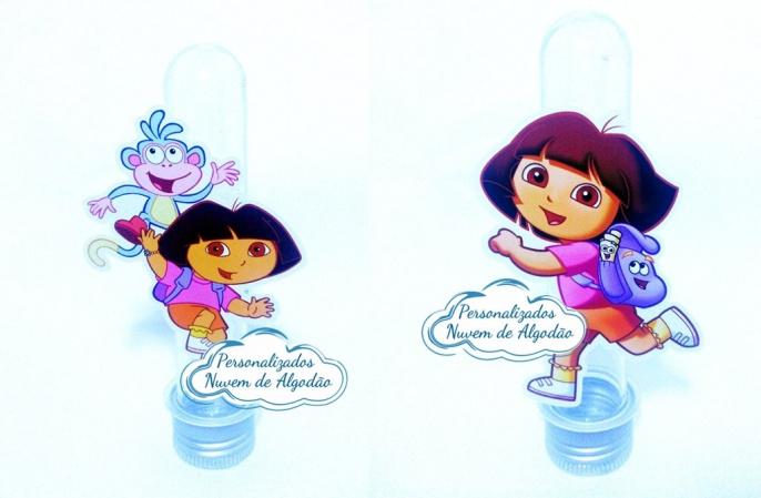 Aplique de tubete Dora a aventureira-Aplique de tubete Dora a aventureira  Fazemos em qualquer tema. Envie nome e idade para personali