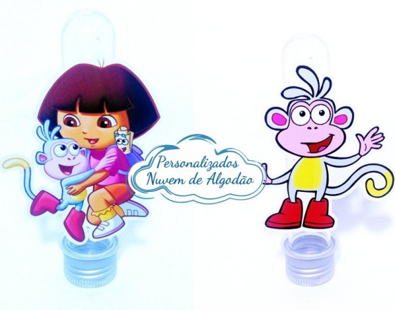 Aplique de tubete Dora a aventureira - Botas-Aplique de tubete Dora Aventureira - Botas Fazemos em qualquer tema. Envie nome e idade para perso