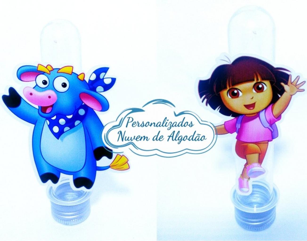 Nuvem de algodão personalizados - Aplique de tubete Dora a aventureira - Dora e Benny