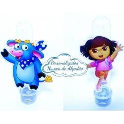 Aplique de tubete Dora a aventureira - Dora e Benny
