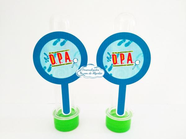 Aplique de tubete DPA - Lupa-Aplique de tubete DPA - Lupa  Fazemos em qualquer tema. Envie nome e idade para personalização.